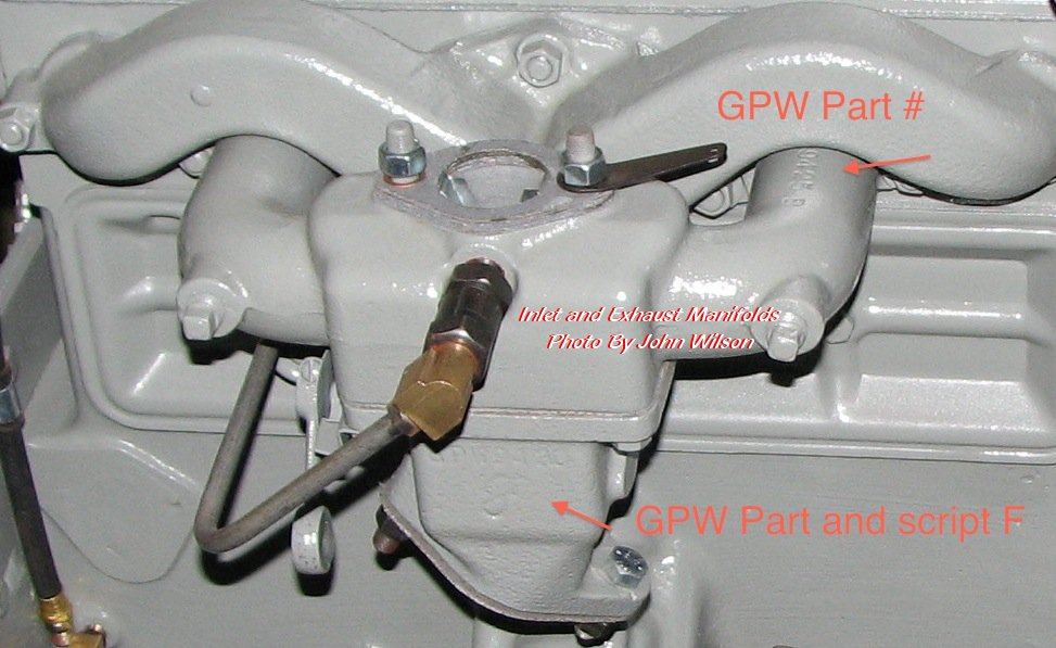 """Ford GPW jeep ''F'' and ''Ford"""" marked Parts EXHAUST"""