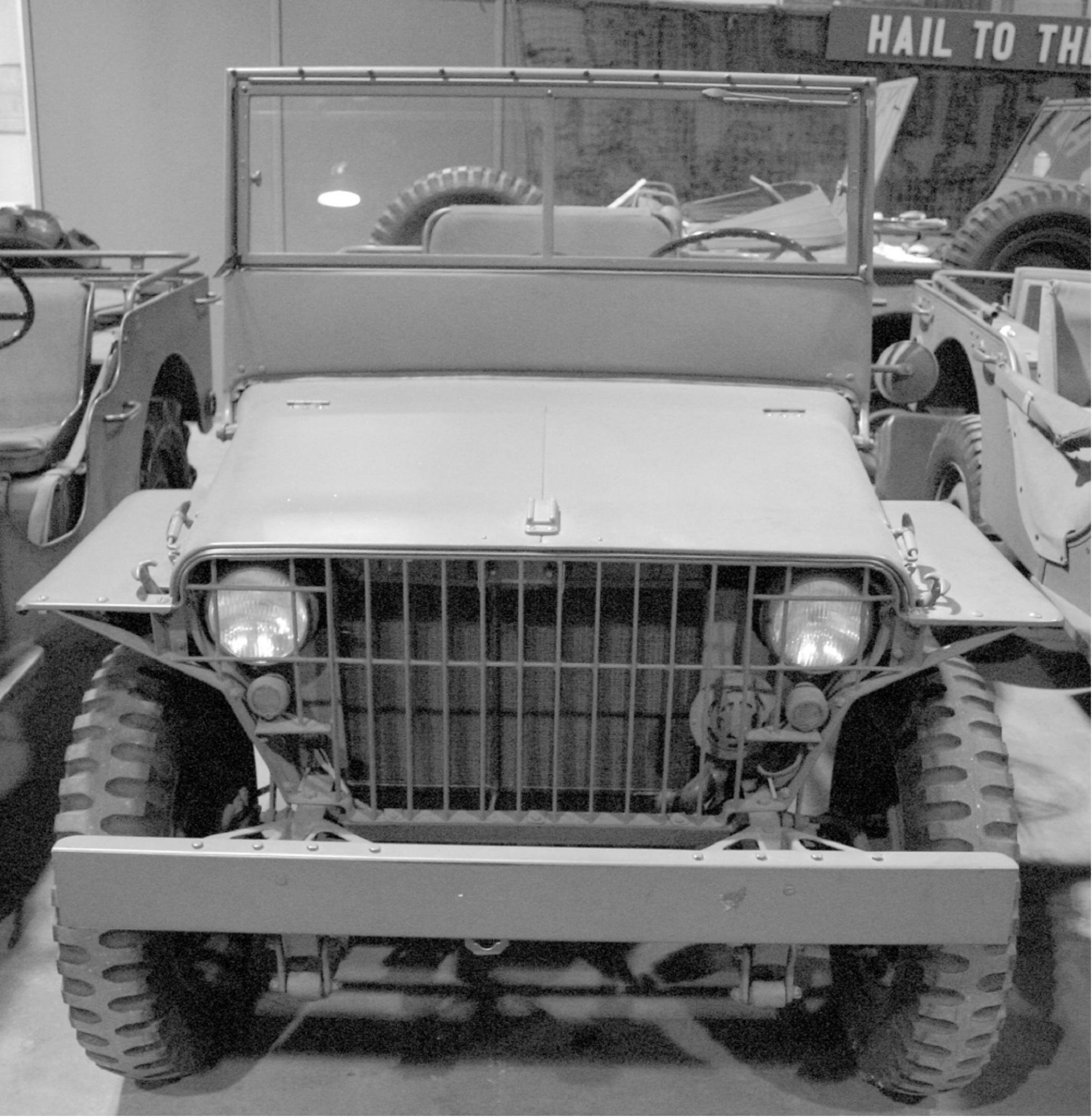 WW2 jeep Part Colours colors