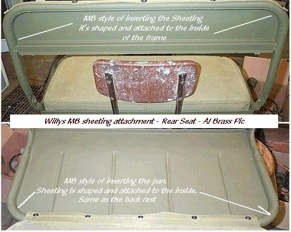 rear seat bottom pad installation - G503 Military Vehicle Message Forums | Willys Jeep Rear Seat |  | G503 Military Vehicle Message Forums