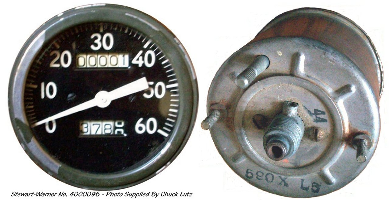 There are two types of Stewart Warner speedometers used during 1942.