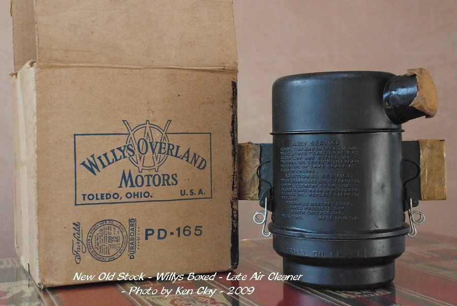 Willys Oil Bath Air Cleaner : Ww jeep part colours colors